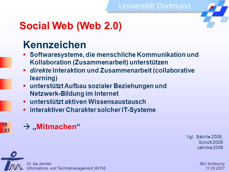 """Social Web (Web 2.0) Kennzeichen  """"Mitmachen"""