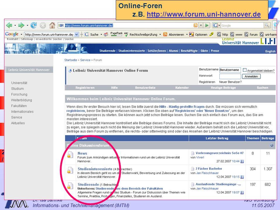 z.B. http://www.forum.uni-hannover.de