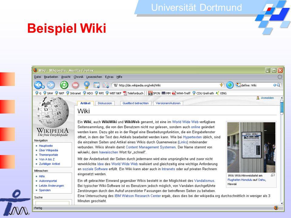 Beispiel WikiDer Name Wiki geht auf die Shuttle-Busse am Flughafen Honolulu zurück, die Wiki-Wiki (schnell) heißen.