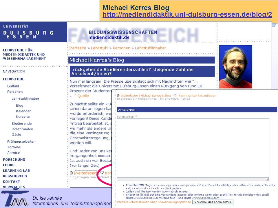 Michael Kerres Blog http://mediendidaktik.uni-duisburg-essen.de/blog/2