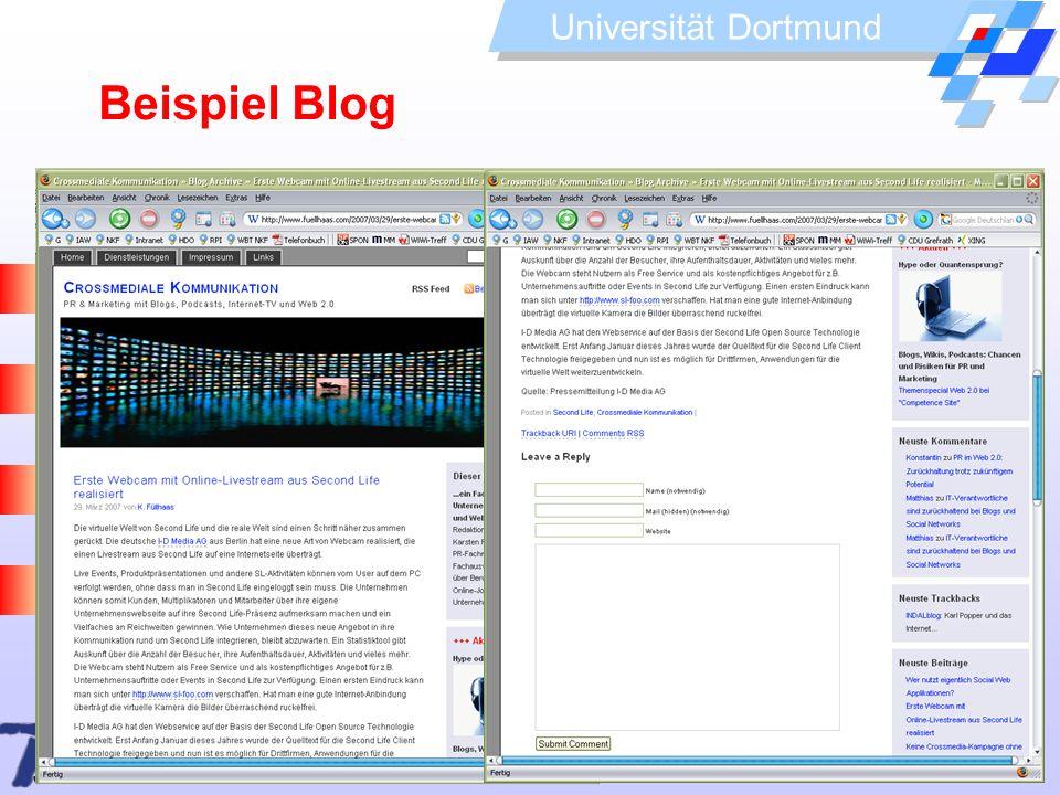 Beispiel Blog