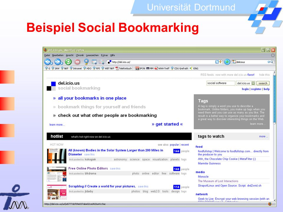 Beispiel Social Bookmarking