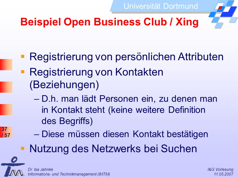Beispiel Open Business Club / Xing