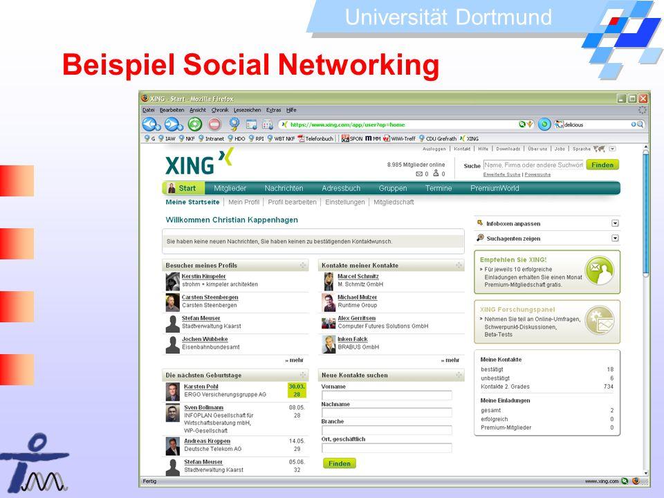 Beispiel Social Networking