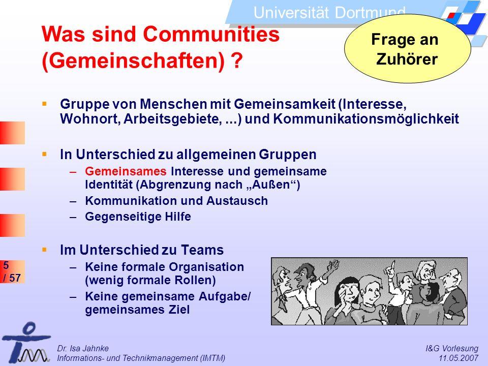 Was sind Communities (Gemeinschaften)