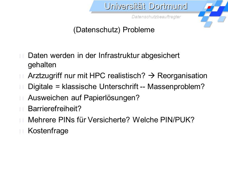 (Datenschutz) Probleme