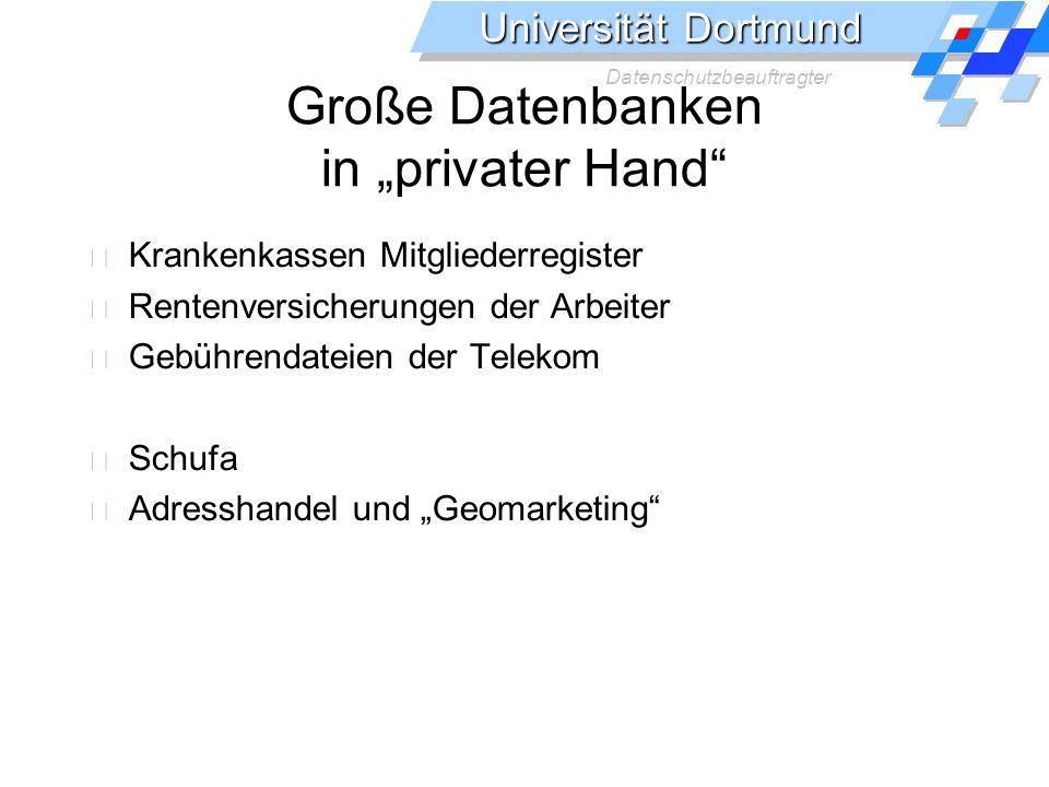 """Große Datenbanken in """"privater Hand"""