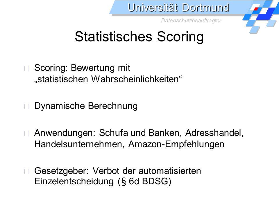 Statistisches Scoring