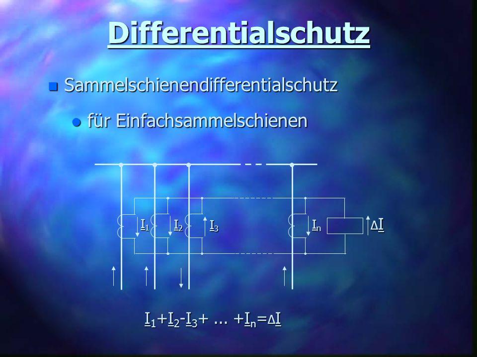 Differentialschutz Sammelschienendifferentialschutz