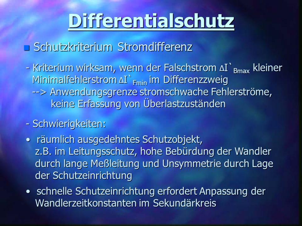 Differentialschutz Schutzkriterium Stromdifferenz