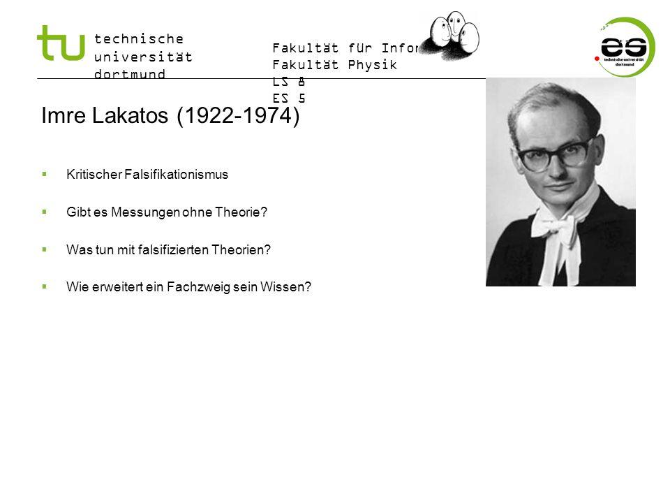 Imre Lakatos (1922-1974) Kritischer Falsifikationismus