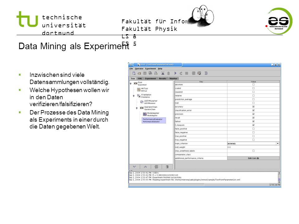 Data Mining als Experiment