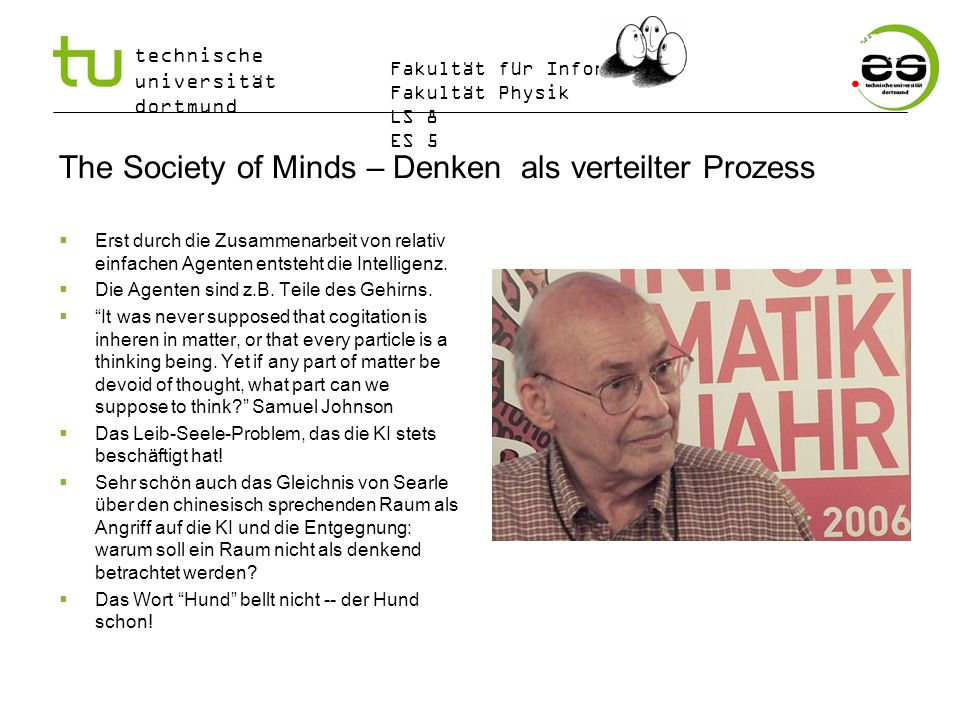 The Society of Minds – Denken als verteilter Prozess
