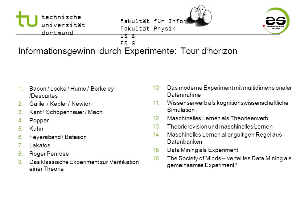 Informationsgewinn durch Experimente: Tour d'horizon