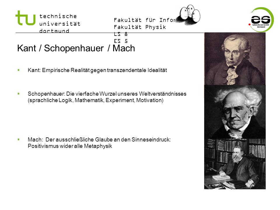 Kant / Schopenhauer / Mach