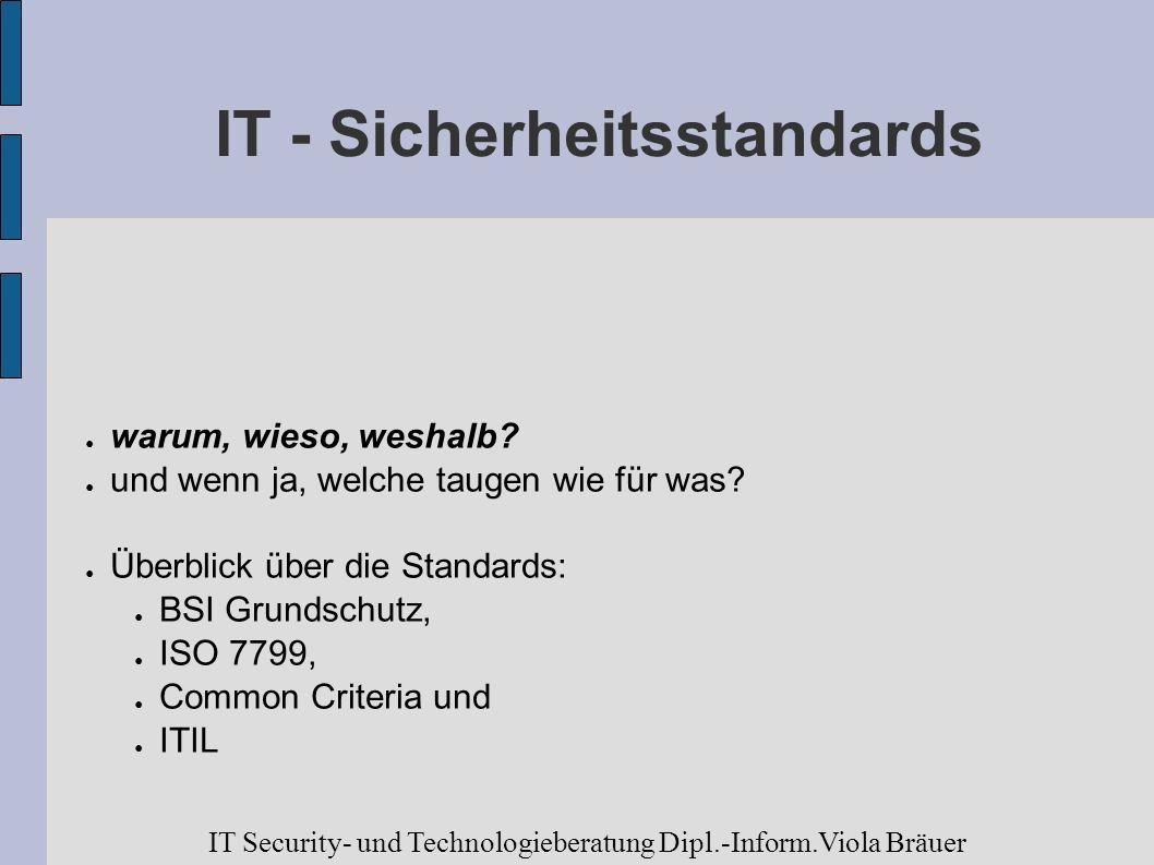 IT - Sicherheitsstandards