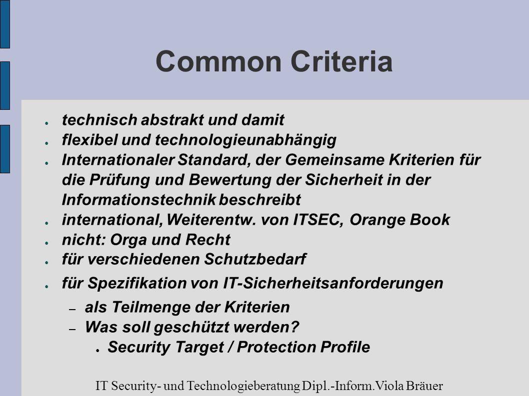 Common Criteria technisch abstrakt und damit