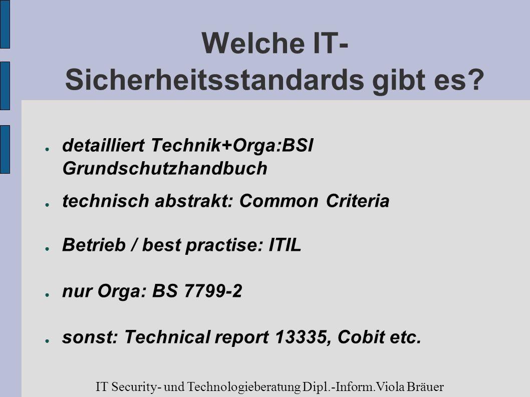 Welche IT- Sicherheitsstandards gibt es