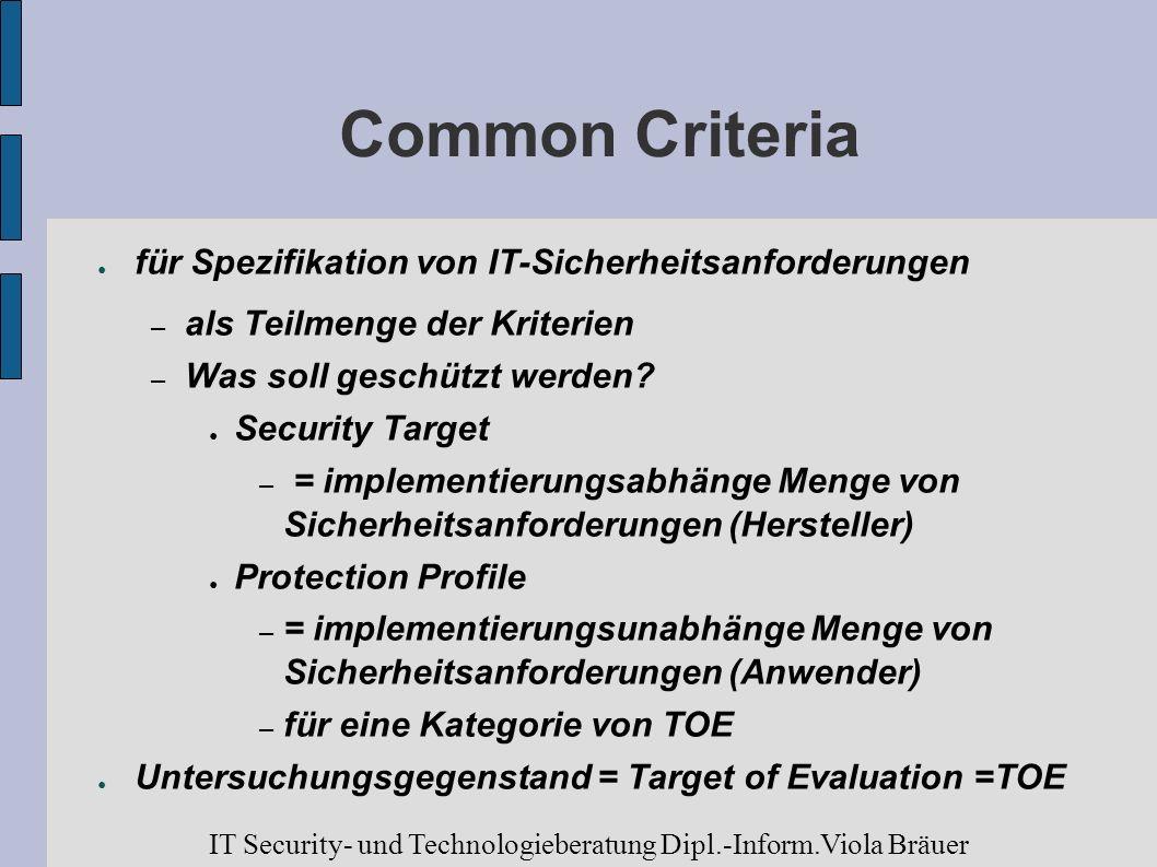 Common Criteria für Spezifikation von IT-Sicherheitsanforderungen