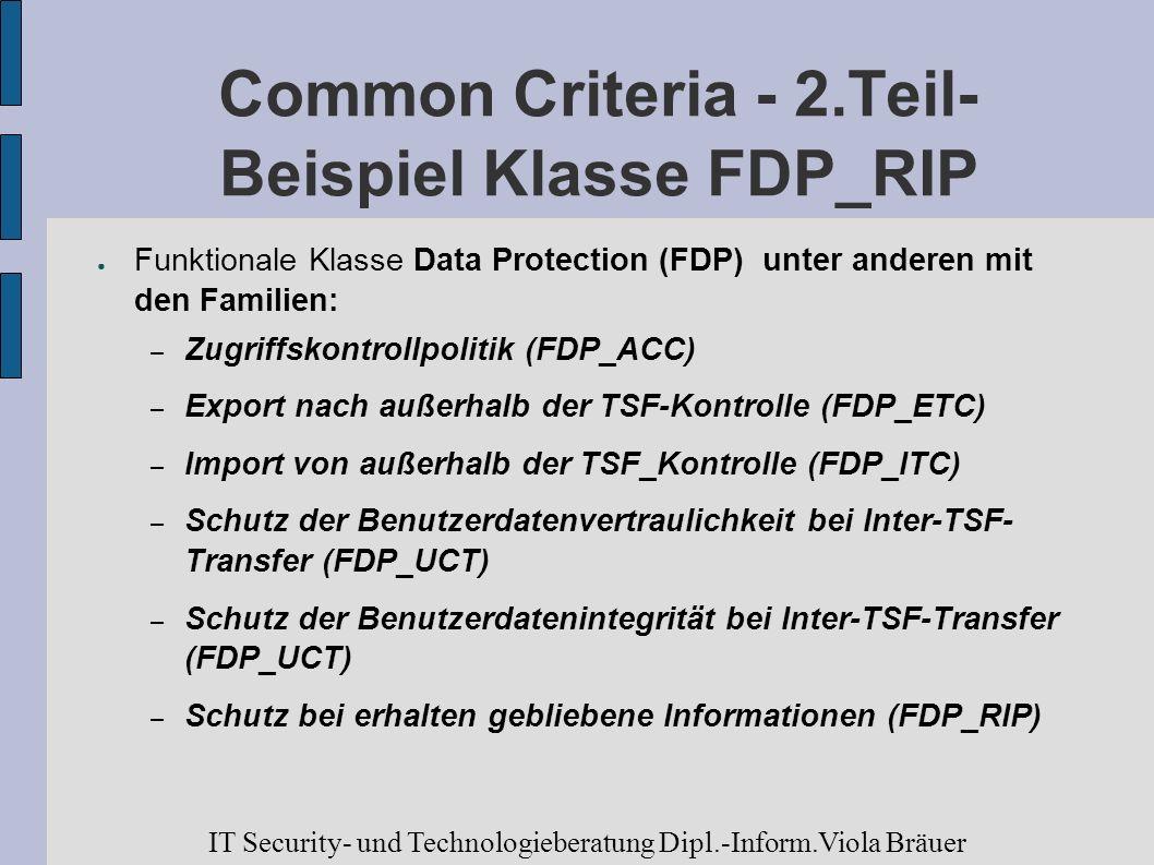 Common Criteria - 2.Teil- Beispiel Klasse FDP_RIP