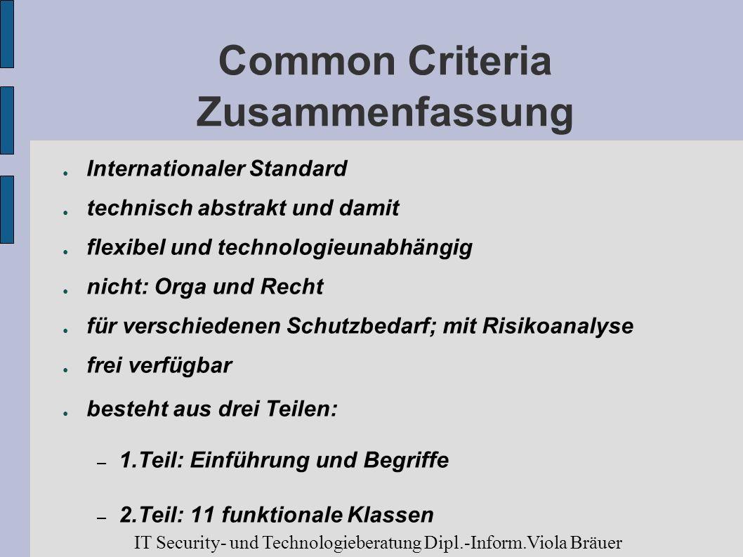 Common Criteria Zusammenfassung