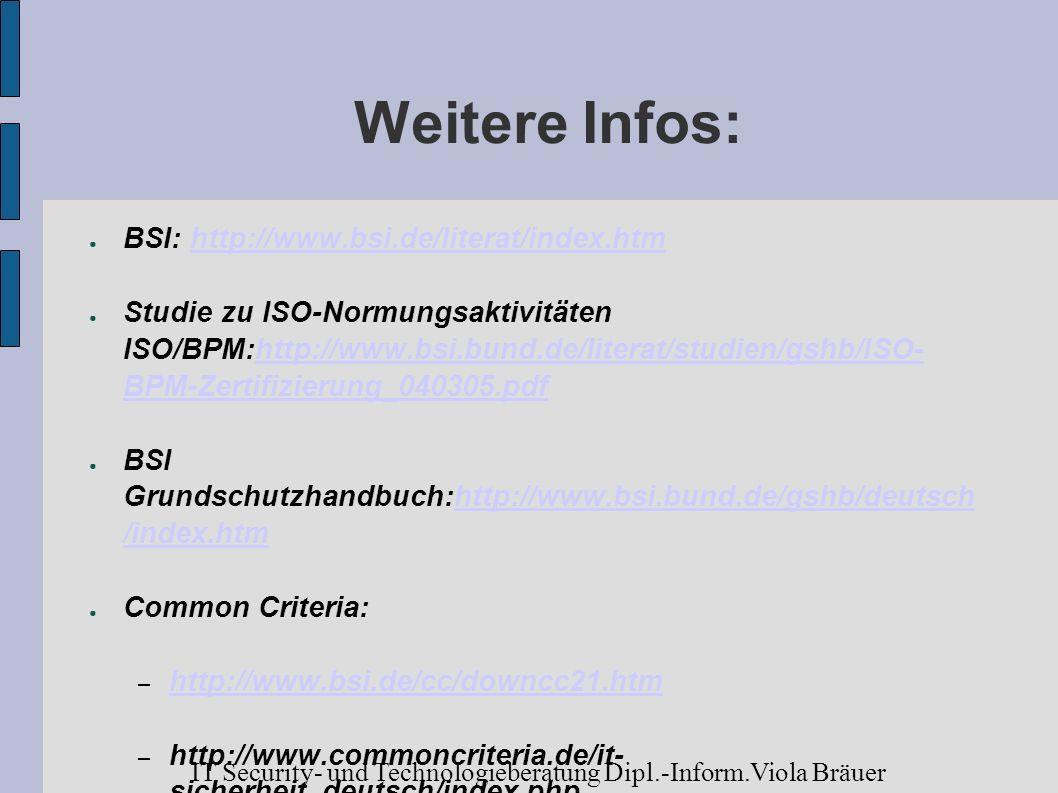Weitere Infos: BSI: http://www.bsi.de/literat/index.htm.