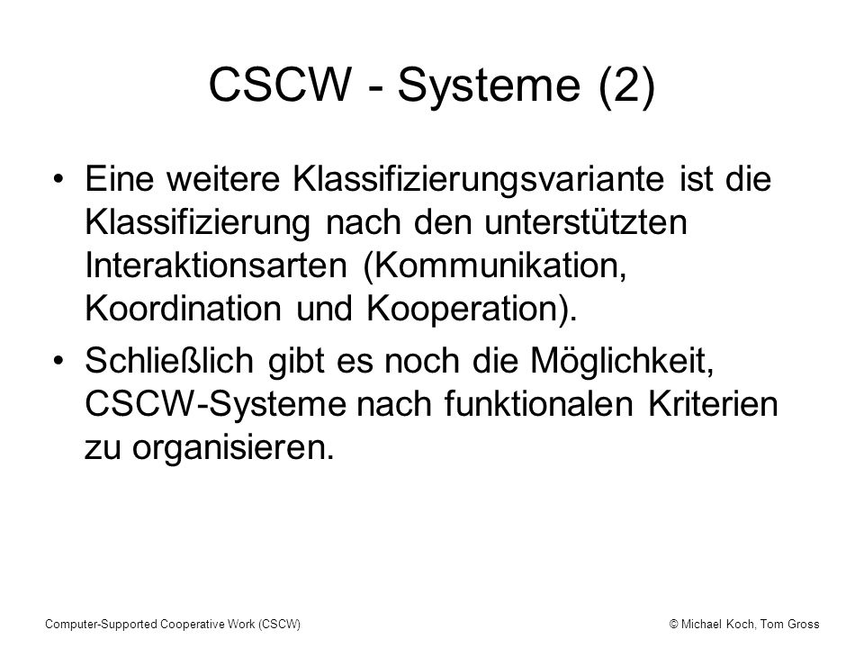 CSCW - Systeme (2)