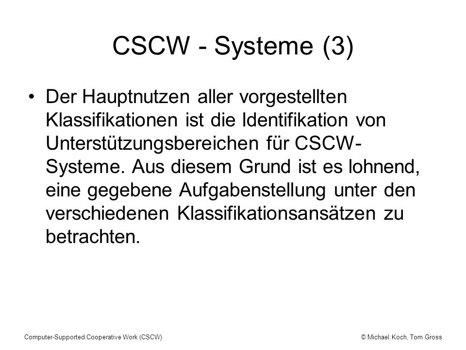 CSCW - Systeme (3)