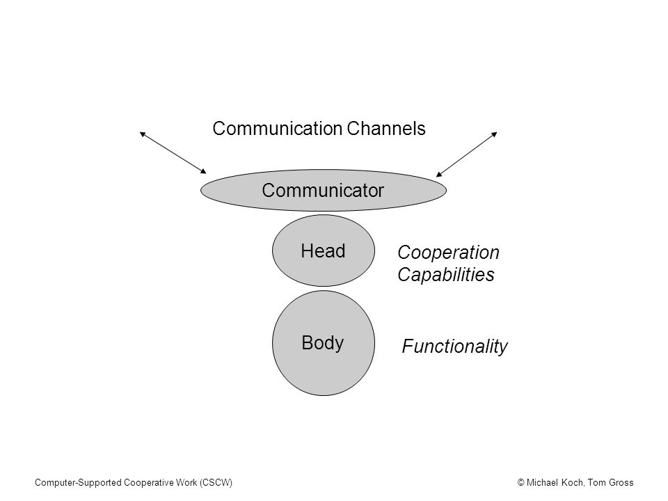 Communicator Head Body Cooperation Capabilities Communication Channels Functionality