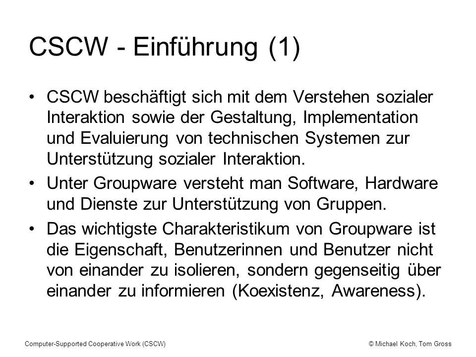 CSCW - Einführung (1)