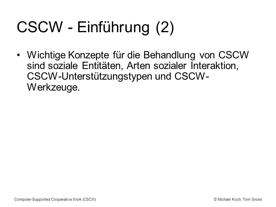 CSCW - Einführung (2)