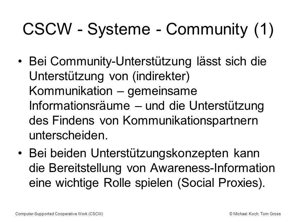 CSCW - Systeme - Community (1)