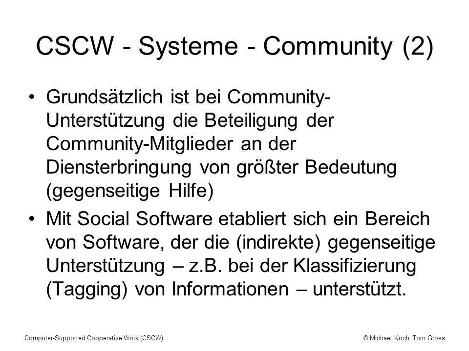 CSCW - Systeme - Community (2)