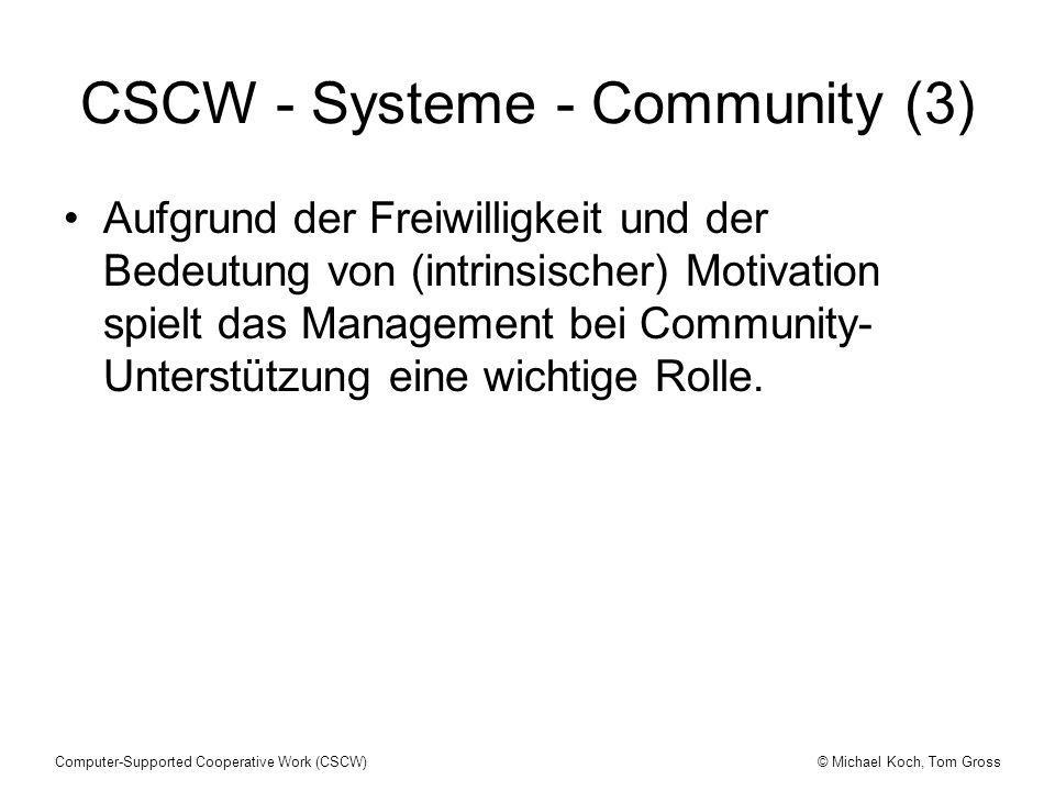 CSCW - Systeme - Community (3)