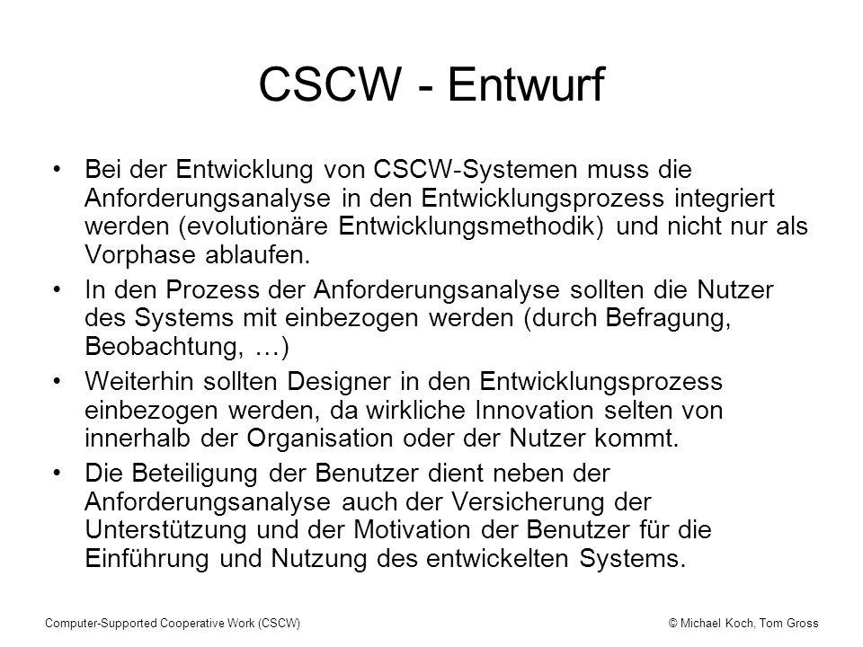 CSCW - Entwurf