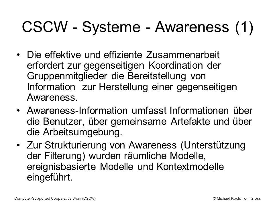 CSCW - Systeme - Awareness (1)