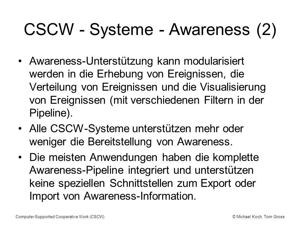 CSCW - Systeme - Awareness (2)