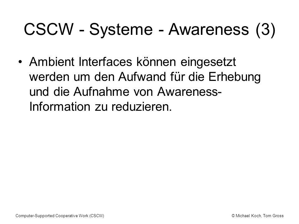 CSCW - Systeme - Awareness (3)