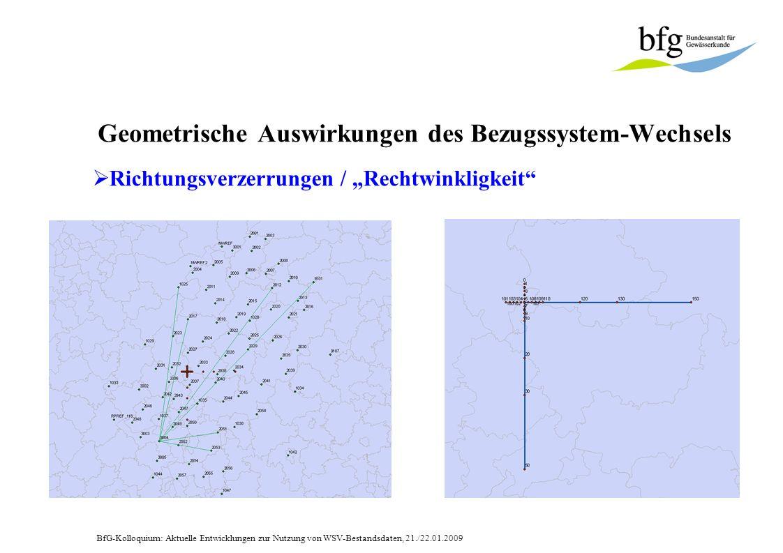 Geometrische Auswirkungen des Bezugssystem-Wechsels