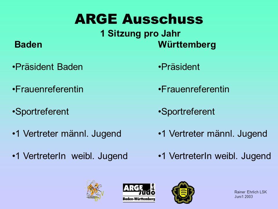 ARGE Ausschuss 1 Sitzung pro Jahr