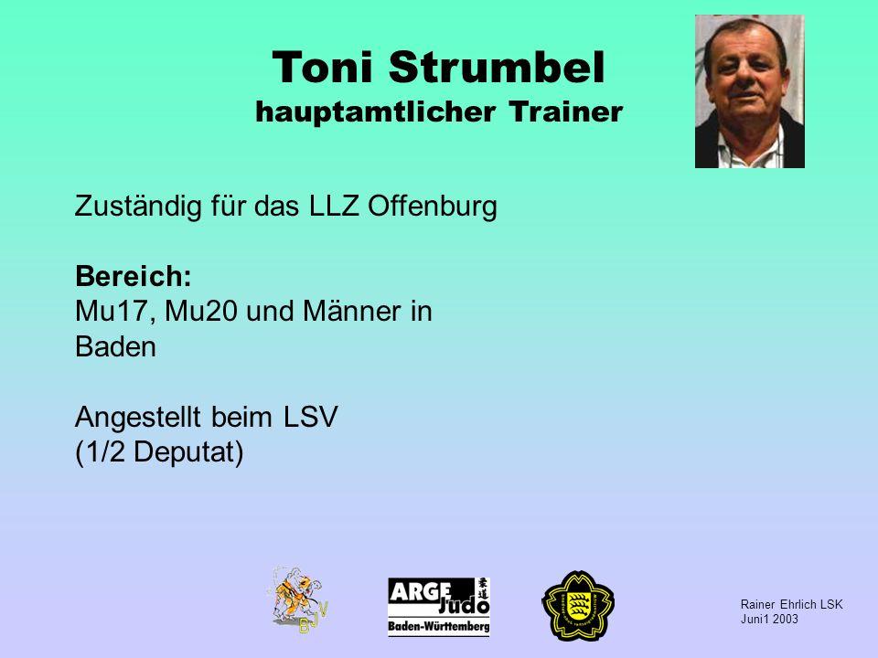 Toni Strumbel hauptamtlicher Trainer