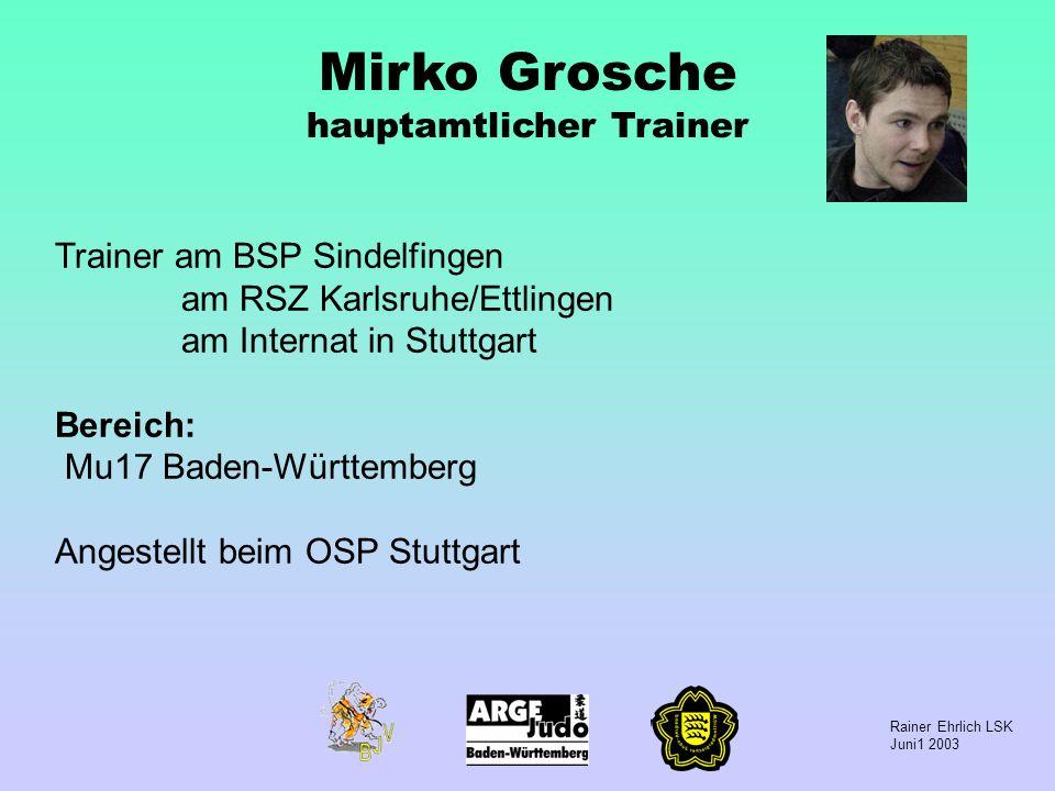 Mirko Grosche hauptamtlicher Trainer