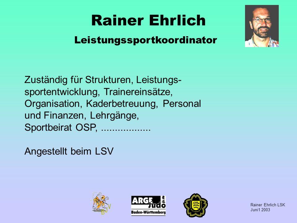 Rainer Ehrlich Leistungssportkoordinator