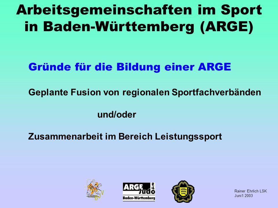Arbeitsgemeinschaften im Sport in Baden-Württemberg (ARGE)