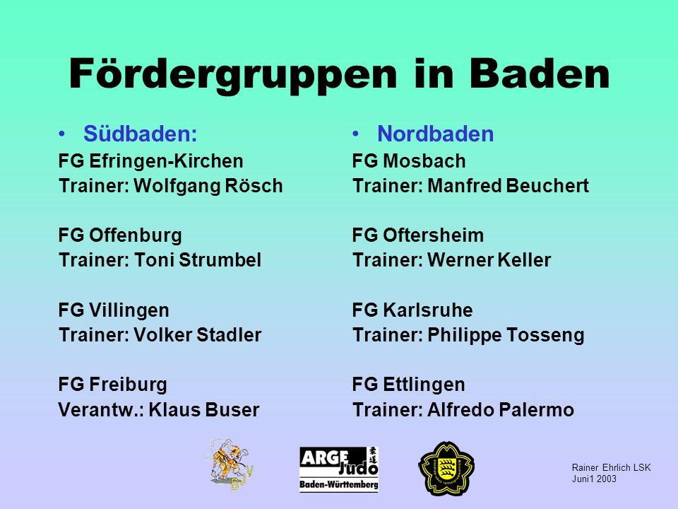 Fördergruppen in Baden