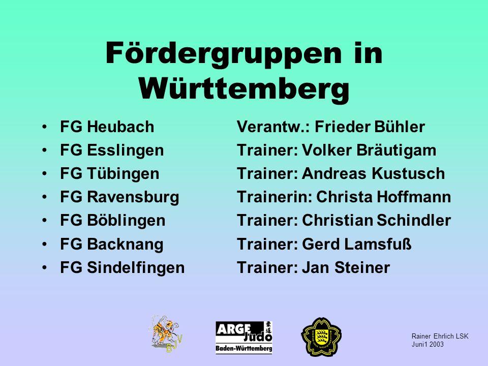 Fördergruppen in Württemberg