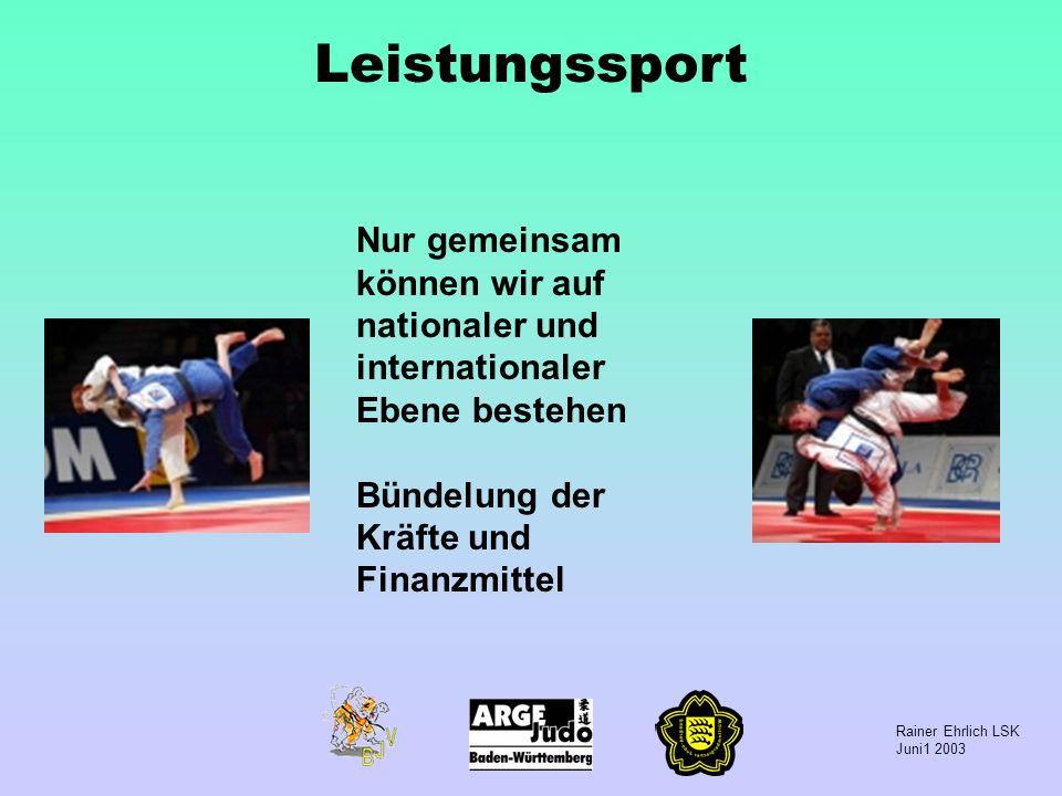 Leistungssport Nur gemeinsam können wir auf nationaler und internationaler Ebene bestehen.