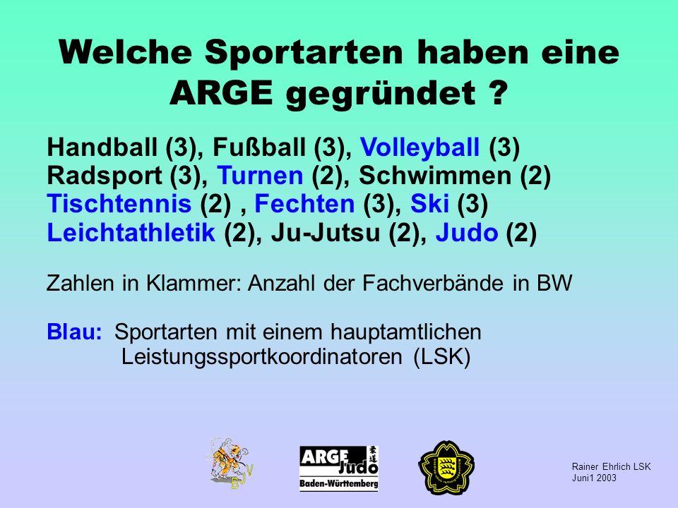 Welche Sportarten haben eine ARGE gegründet