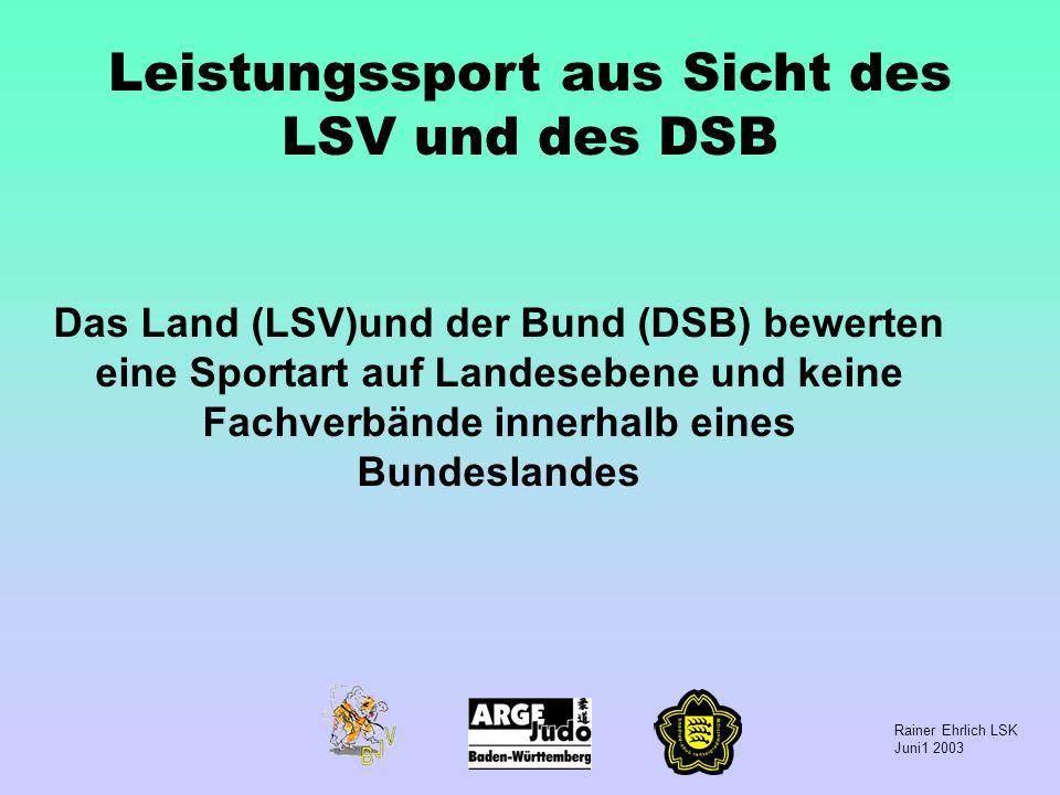 Leistungssport aus Sicht des LSV und des DSB