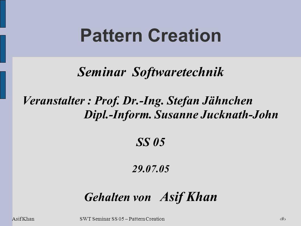 Seminar Softwaretechnik Dipl.-Inform. Susanne Jucknath-John